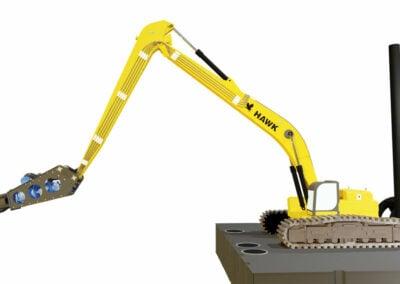hawk long stick excavator long boom combo package