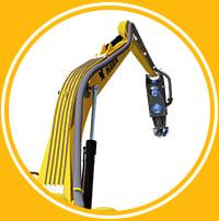 hawk-circular-thumb plumbing hydraulics long arm excavator