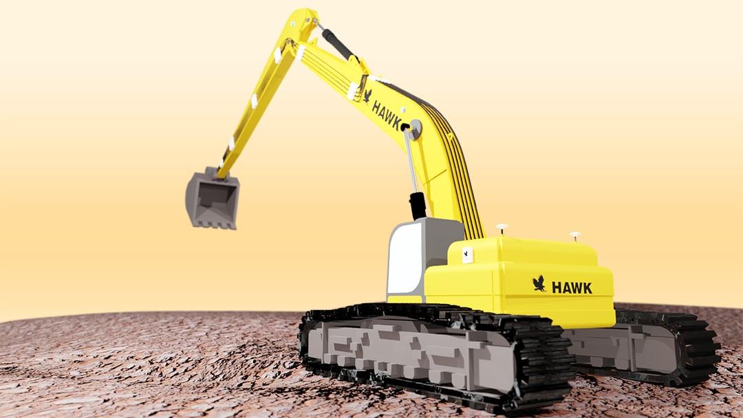 hawk-long-reach-excavator-side-bucket